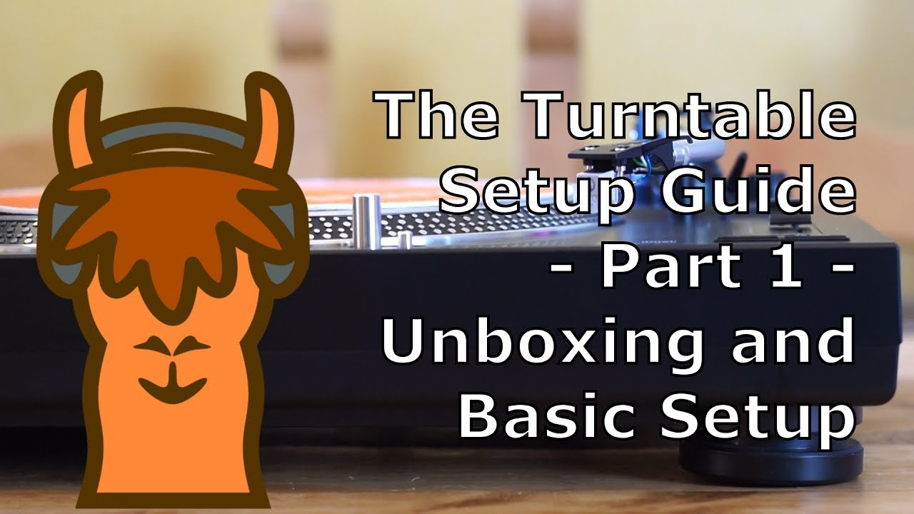 Turntable Setup For Beginners  (P 1   Unboxing + Basic Setup)  Basic P&l Template