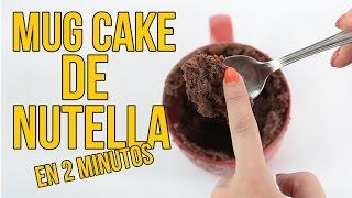 Cómo hacer un MUG CAKE de NUTELLA en 2 minutos
