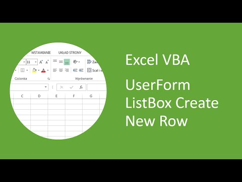 Excel VBA UserForm ListBox Create New Row with AddItem and Specify its Row Number