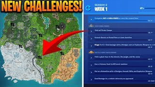 How To Complete ALL WEEK 1 CHALLENGES in SEASON 8 - Fortnite Battle Royale