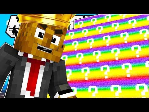 Minecraft KING OF THE HILL RAINBOW LUCKY BLOCK BATTLE MODDED MINIGAME! | Minecraft Mod Challenge