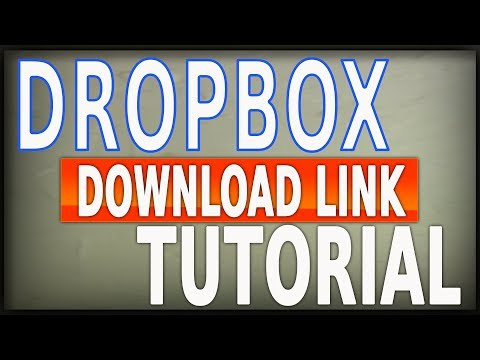 How To Create Download Links In DropBox