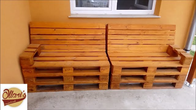 How To Build A Pallet Sofa Step By