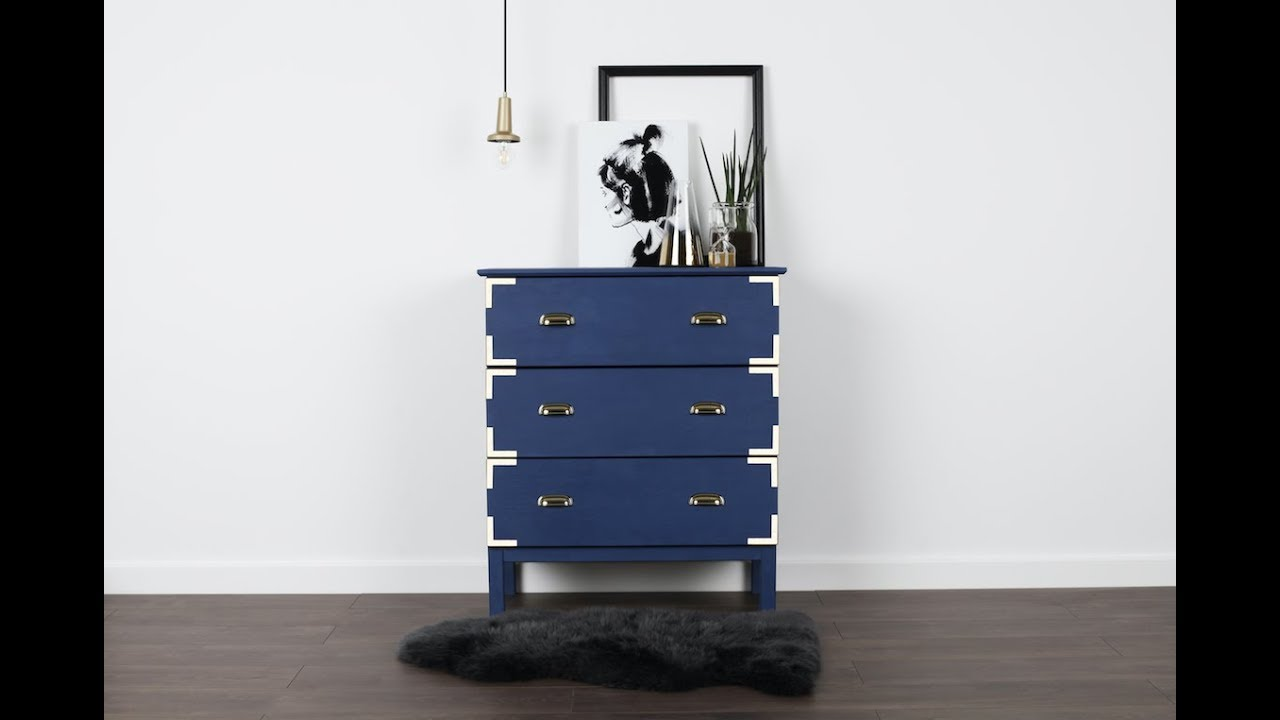 Ikea Tarva Hack With Rust Oleum Chalky
