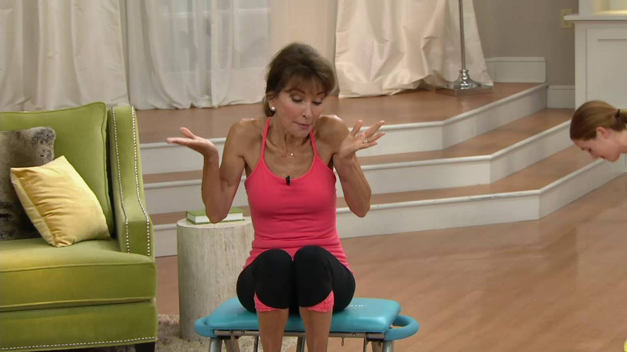 Pilates Pro Chair With 4 Dvds By Life S A Beach On Qvc