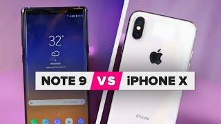 Galaxy Note 9 vs. iPhone X comparison