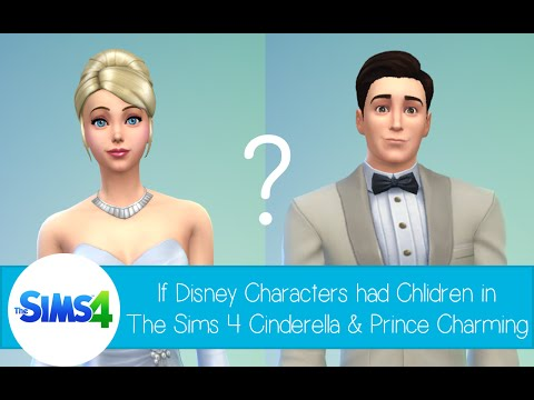 If Disney Characters Had Children In The Sims 4: Cinderella and Prince Charming