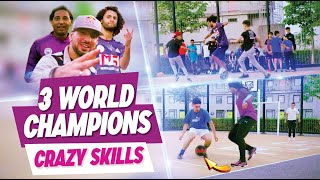 CRAZY SKILLS ! 3 World champion playing street football together
