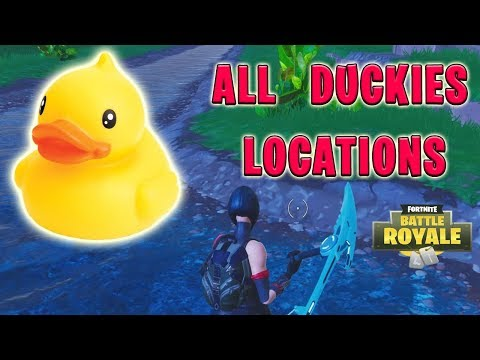 Fortnite ALL DUCK LOCATIONS - Search Rubber Duckies Week 3 Season 4 Challenges