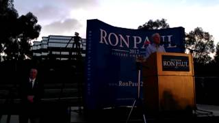 Ron Paul at UCSD 5/4/2012 - Re: CA Primary, Mainstream Media, Winning the battle