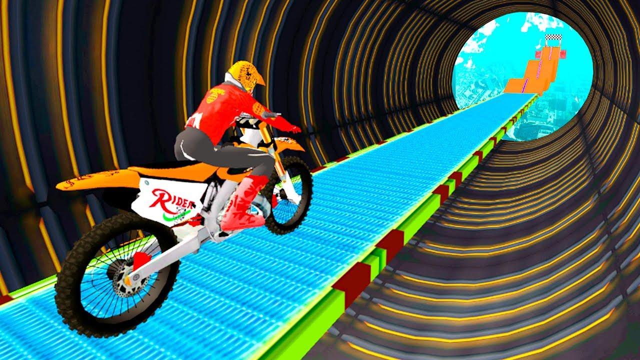Motorcycle Stunt Game Bike Stunt Game Gameplay Android