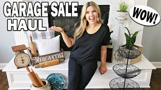 Farmhouse Thrift Store Haul⭐ Garage Sale Finds 2019