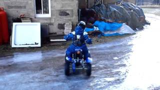 world champion Quad bike drifting on ice  age 4