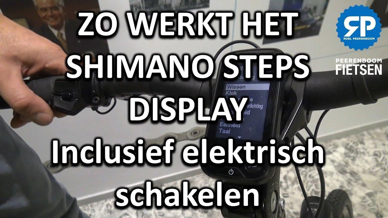 Zo werkt het Shimano Steps ebike display inclusief elektrisch schakelen