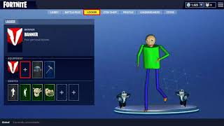 Baldi Dancing in Fortnite With Sans 100% Real No feik