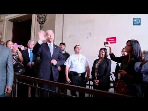 Vice President Biden Welcomes EPA Employees Back to Work