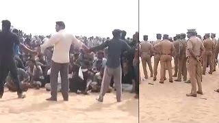 Jallikattu protest: Protestors refuse to leave Marina Beach, form human chain