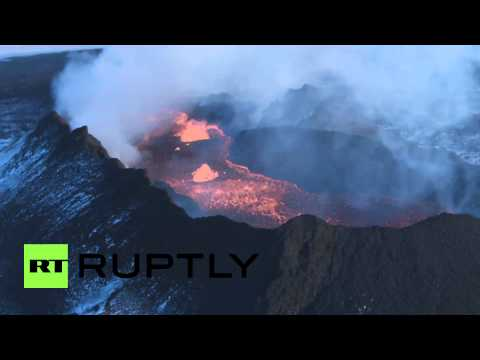 Iceland: See the world's biggest lava field in 200 years