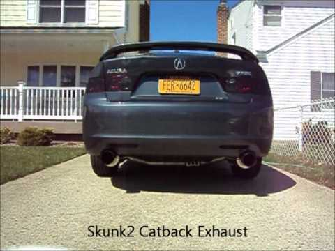 Acura TSX Skunk Catback Exhaust And Injen CAI YouTube - Acura tsx exhaust