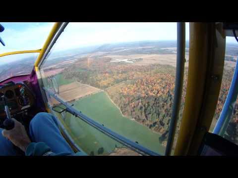 CGS Hawk flight over Fall color.