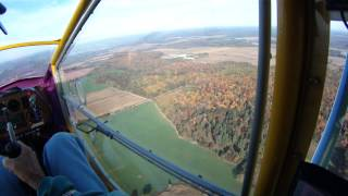 CGS Hawk flight over Fall color.