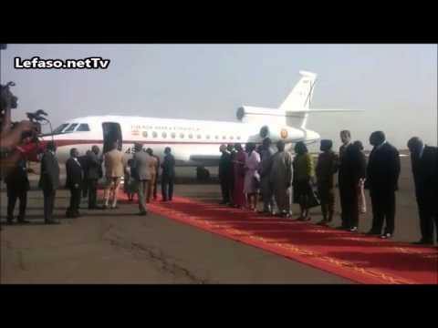 Arrivée de Ban Ki moon au Burkina