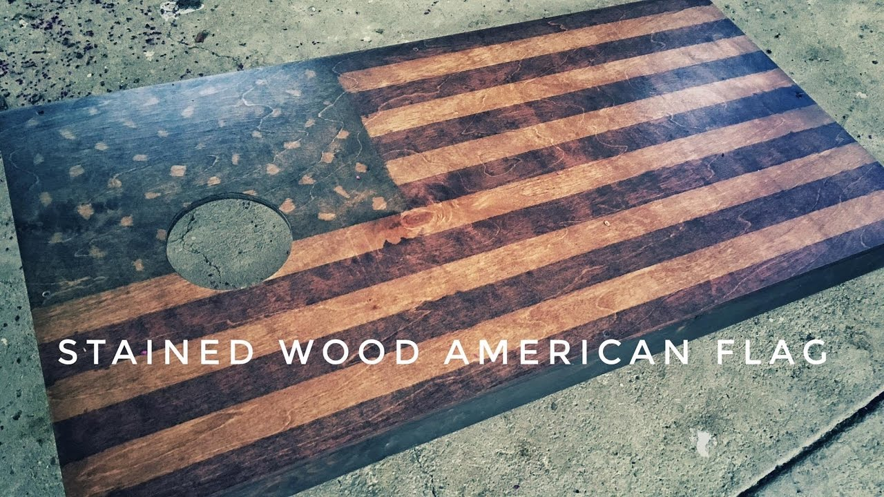 Stained Wood American Flag