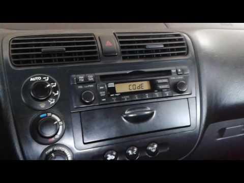 How to Set Original Honda Civic Radio
