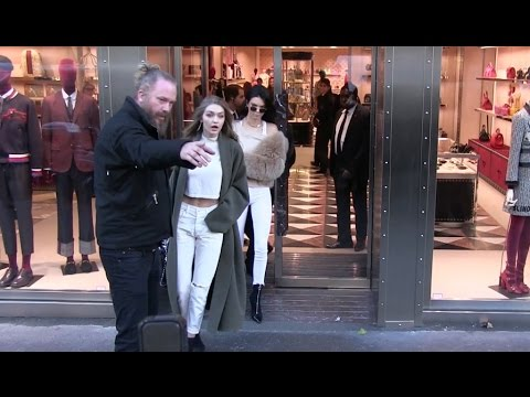 VICTORIA'S SECRET angels KENDALL JENNER and GIGI HADID do shopping at Gucci store in Paris thumbnail