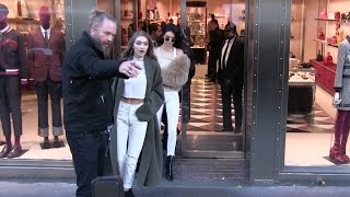 VICTORIA'S SECRET angels KENDALL JENNER and GIGI HADID do shopping at Gucci store in Paris