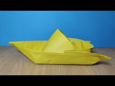 How to make a Paper Speed Boat 🚤🚤 Origami Tutorial