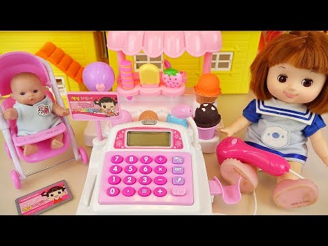 Baby doll Ice cream shop Cash register toys