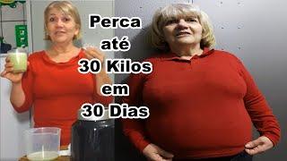 COMO Emagrecer 30 kg em 30 dias, Secar Estômago alto barriga grande com a Receita SHAKE de limão - thumbnail