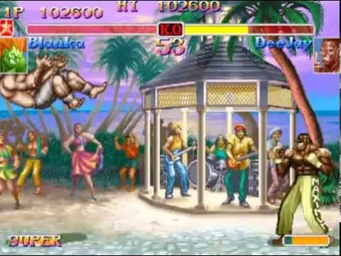 Super Street Fighter II Turbo (Arcade) Playthrough as Blanka