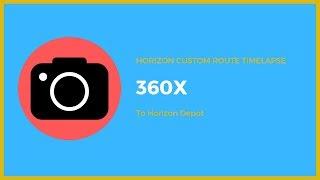 Roblox Sunshine Islands | 360X (Custom Route) to Horizon Depot Timelapse