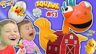 Chase's Corner: SQUAWK! Chicken \u0026 Eggs Popping Challenge Game w/ Clarence (#53) | DOH MUCH FUN