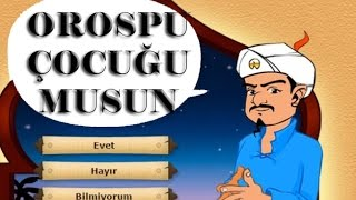 AKİNATOR BENİ TAHMİN ETTİ