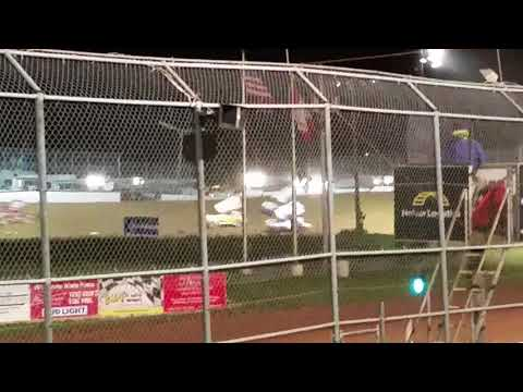 2017 northern nationals sprint car race . Superior Wisconsin.