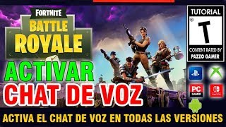 🕹COMO ACTIVAR EL CHAT DE VOZ EN FORTNITE SWITCH / XBOXNE ONE / PC Y PS4🎧