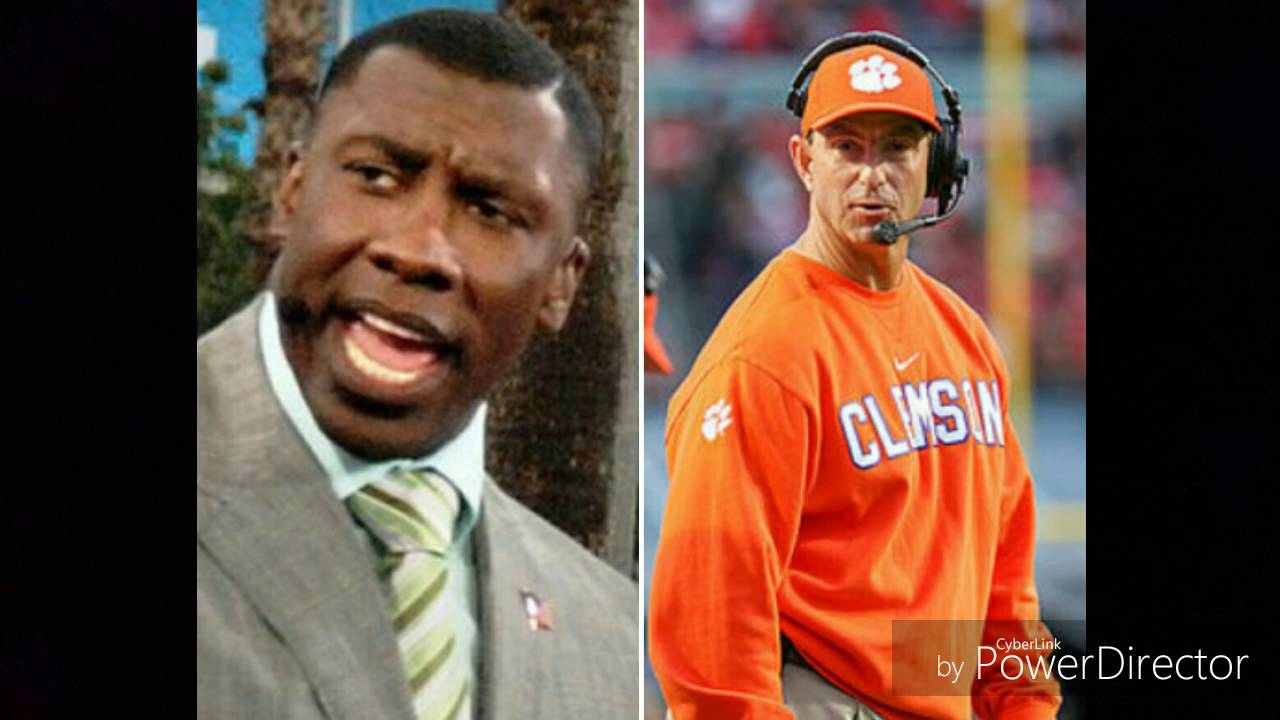 Shannon Sharpe responds to dabo swinney - YouTube