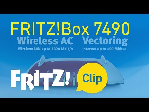 AVM FRITZ! Clip: FRITZ!Box 7490 -- the top model for Internet, telephony and multimedia