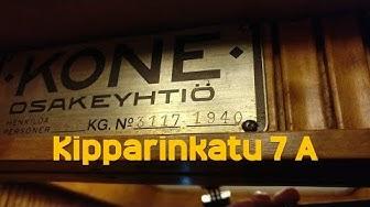 Hissivideo: Kipparinkatu 7 A, Keskus, Lappeenranta - 1940 KONE (mod. KONE 1995) (veräjähissi)
