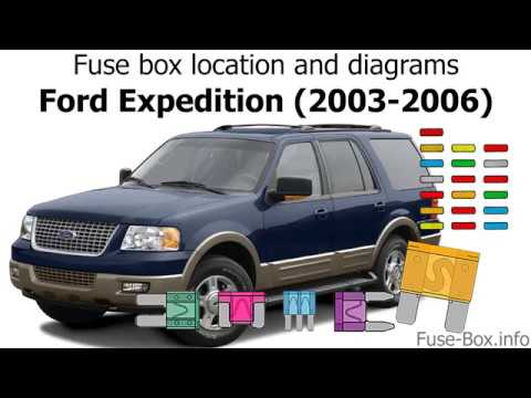 Fuse box location and diagrams Ford Expedition (2003-2006) - YouTube