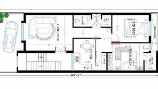 20X55 2 BHK HOUSE PLAN