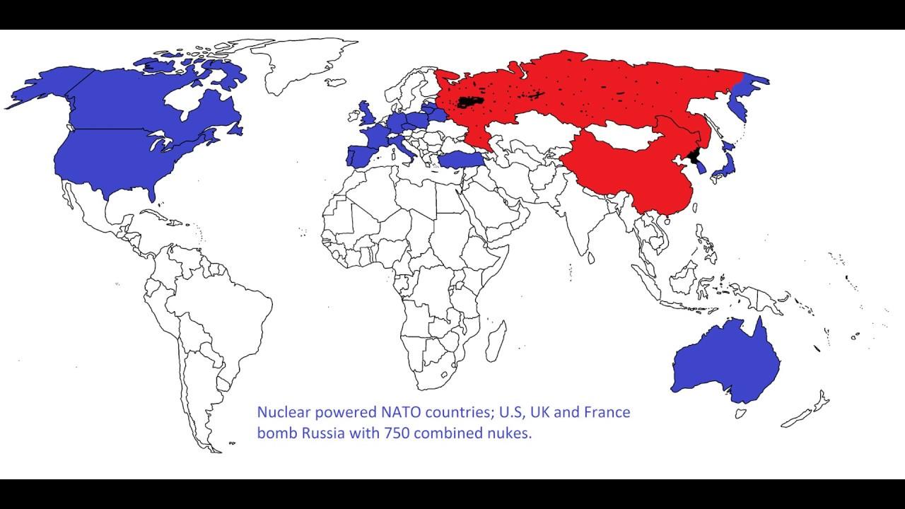 World War North Korea To Start NUCLEAR APOCALYPSE YouTube - Nuclear war us map