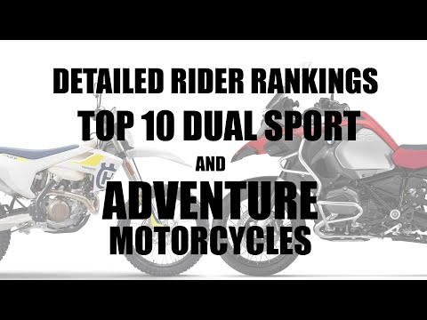Top Ten Best ADV, Dual Sport, & Street Legal Enduro Motorcycles RANKED BY YOU #everide