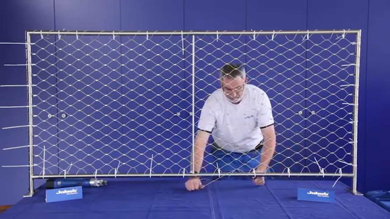 Jakob Rope Systems Attach Wire Web Net To Frame Instructions Youtube