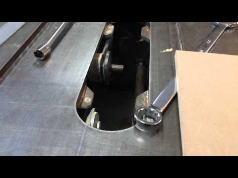 Tie bar alignment Delta contractor table saw
