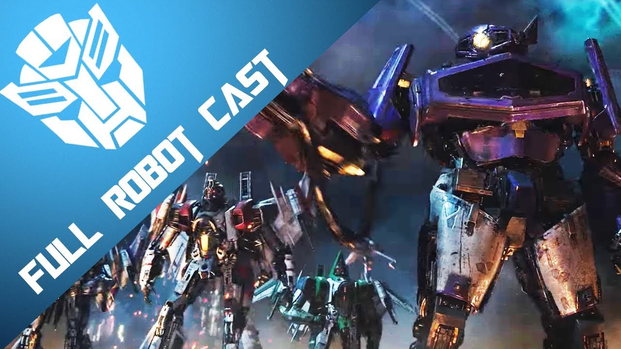 Bumblebee The Movie Full Robot Cast Youtube