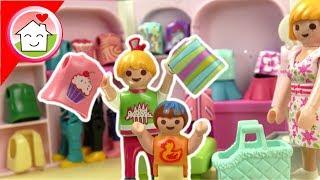 Playmobil Puppen Bekleidungsgeschäft - Shopping mit Lena - Familie Hauser Boutique Spielzeug Video